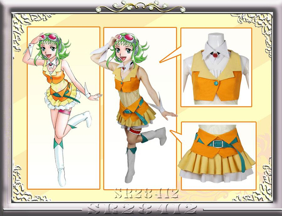 Gumi Cosplay Kostüm Vocaloid Cosplay Holloween Noel Partisi Tatil