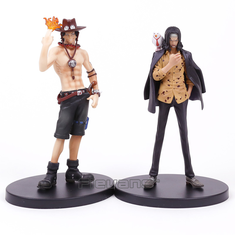 Anime One Piece SCultures vol.4 Rob Lucci & Portgas D Ace PVC Şekil Koleksiyon Model Oyuncak 17 cm 2 Stilleri