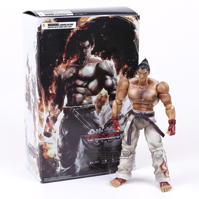 Kazuya Mishima Tekken Tag Tournament 2 Sanat Kai Oyna PVC Action Figure Koleksiyon Model Oyuncak