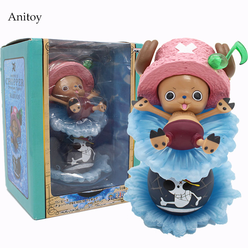 Anime One Piece FountainTony Tony Chopper PVC Şekil Tahsil Oyuncak 17 cm KT4105