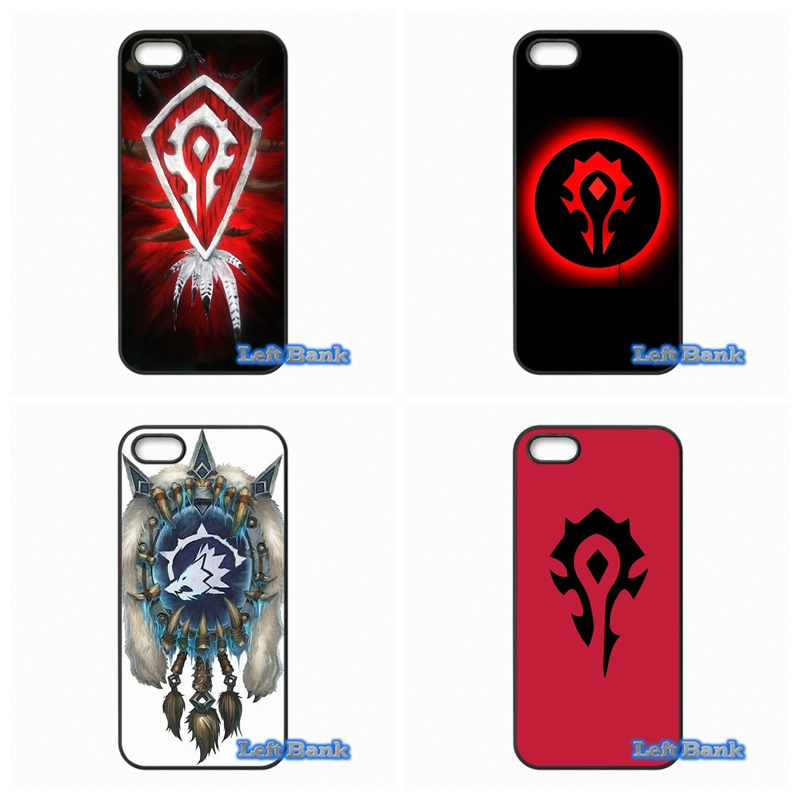 WOW World of Warcraft horde logo Telefon Kılıfları Samsung Galaxy Not 2 3 4 5 7 S S2 S3 S4 S5 MINI S6 S7 kenar