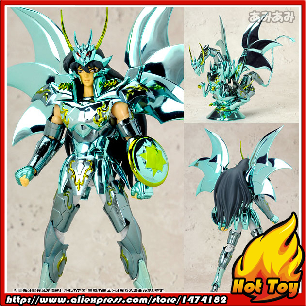 Original BANDAI Tamashii Nations Saint Cloth Myth Action Figure - Dragon Shiryu God Cloth from Saint Seiya