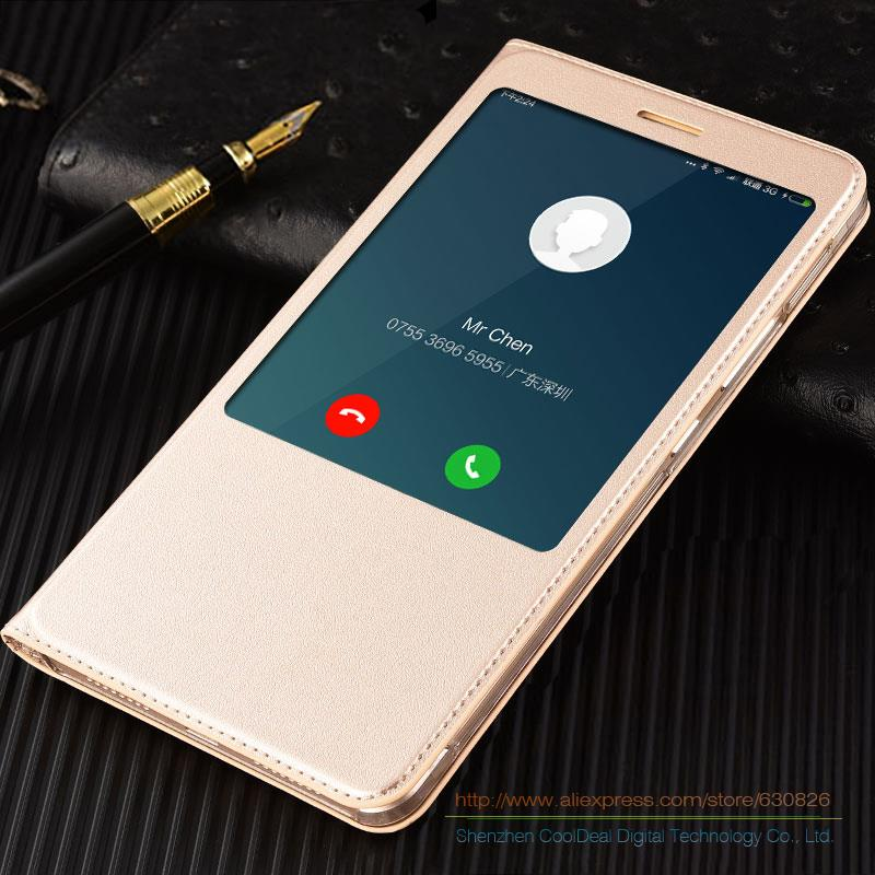 Original Style PU Leather Cover Cases For Xiaomi Mi Max 6.44 Luxury Mobile Phone Smart Flip Case & View Window