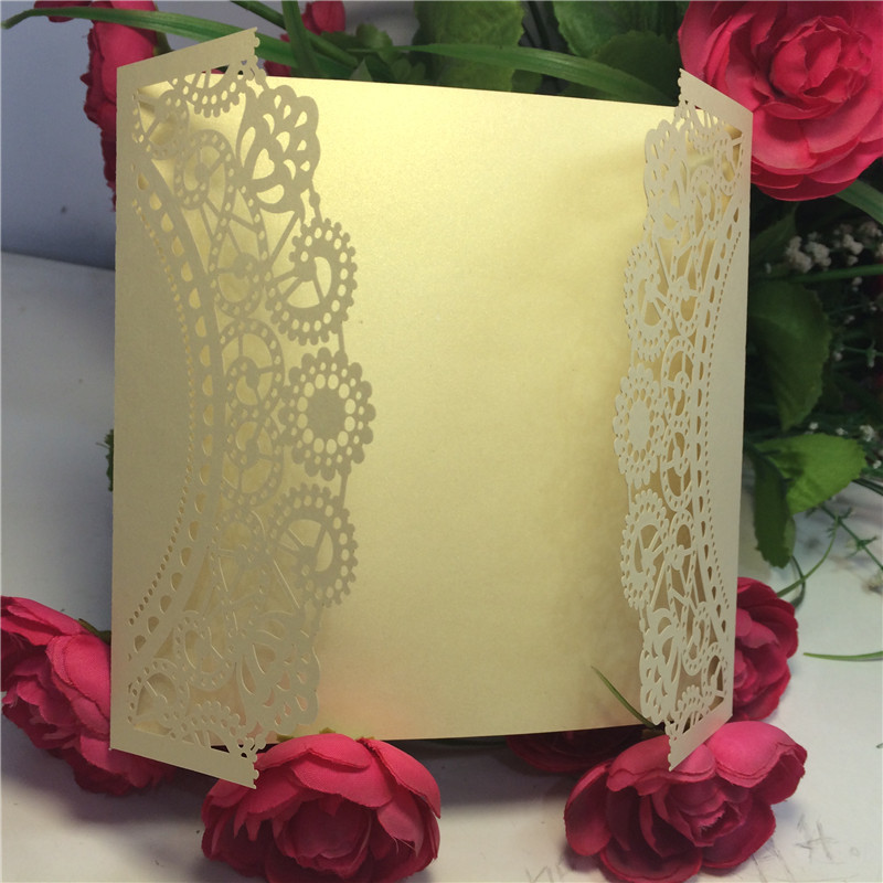Laser Cut Lace Flower Wedding Invitations Cards Party Business Cards Greeting Card Centerpieces Souvenirs Wedding Favors Decor